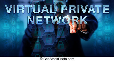 privato, rete, impresa, virtuale, utente, toccante