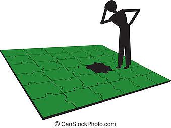 problema, persone, puzzle, possedere