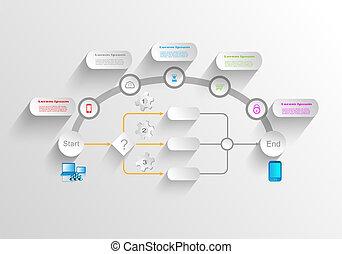 processo, affari, infographics