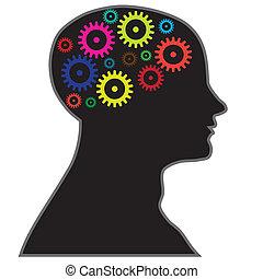 processo, cervello, informazioni