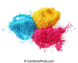 processo, colorare, gesso, polvere