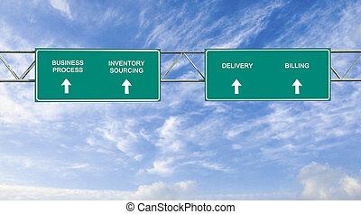 processo, strada, affari firmano