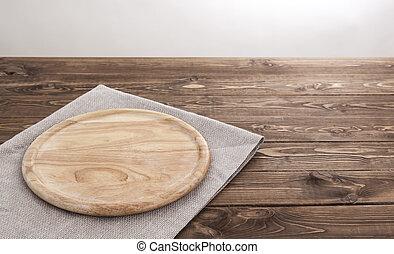 prodotto, legno, montage., asse, fondo, rotondo, tablecloth.