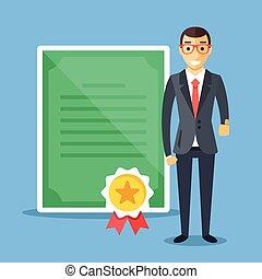 professionale, affari, certificazione