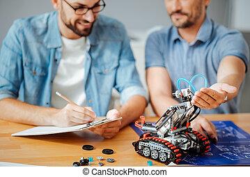 professionale, analisi, robot, ingegneri