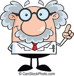 professore, scienziato, idea, o