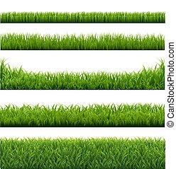 profili di fodera, erba, verde, set, fondo