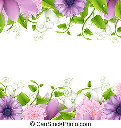 profili di fodera, fiori