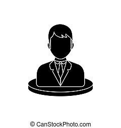 profilo, uomo affari, esecutivo