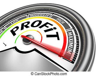profitto, concettuale, metro