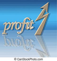 profitto, vettore, aumentato