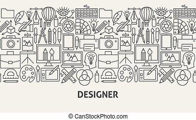 progettista, bandiera, concetto