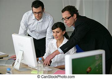 progetto, professionale, lavorativo, affari, insieme