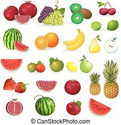 progetto serie, delizioso, frutte, fresco, bacche, tuo