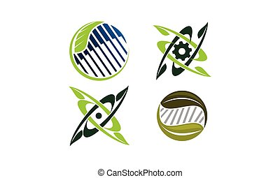 progetto, verde, set, tecnologia, sagoma