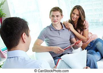 programma, discutere, assicurazione