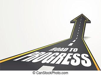 progresso, strada