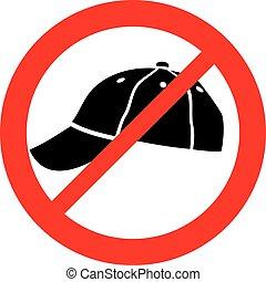 (prohibition, no, symbol), berretto, segno, icona, conceduto, non