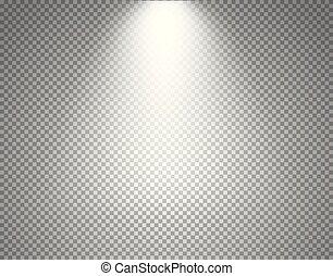 proiettore, isolato, illustrazione, fondo., luminoso, a più livelli, trasparente