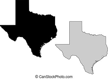 projection., map., nero, white., mercator, texas