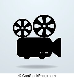 projector., icona, film, cinema