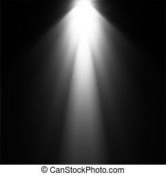 projector., luce, vettore, illustrazione, trave