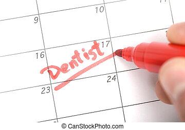 promemoria, appuntamento, dentista