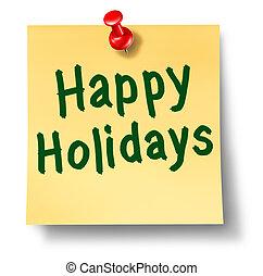 promemoria, felice, vacanze