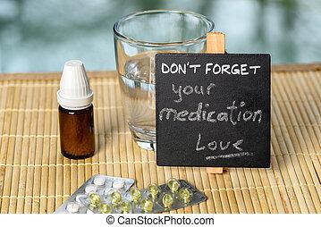 promemoria, medicazione, bambù
