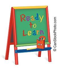 pronto, cavalletto, imparare, childrens