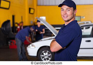 proprietario, servizio auto, affari