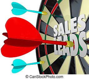 prospettive, vendita, clienti, vendite, piombi, asse, freccetta