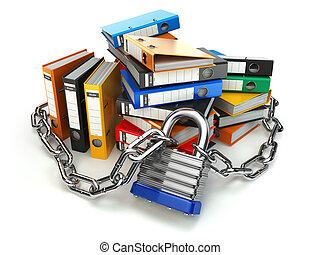 protection., file, catena, intimità, cartella, informazioni, security., dati, lock.