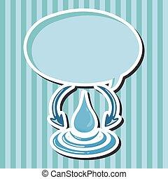 proteggere, concetto, protezione, environment., ambientale, tema, elements;, acqua, conservare