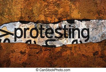 protesta, concetto