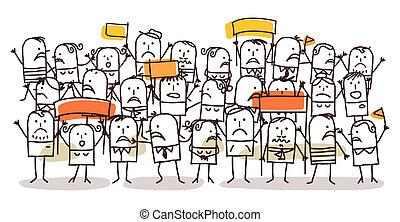 protesta, folla