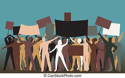 protesta, gruppo