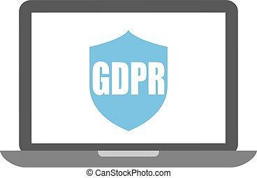 protezione, dati, gdpr, icona
