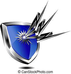 protezione, scudo, lampo