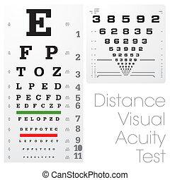 prova, distanza, visuale, acutezza