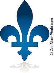 provincia, canada, emblema, quebec