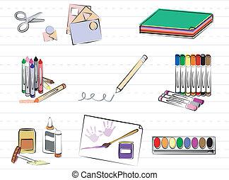 provviste, arte, scuola