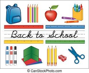 provviste, scuola, indietro
