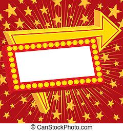 pubblicità, stelle, segno