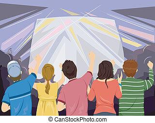 pubblico, concerto