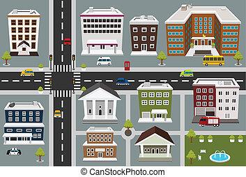 pubblico, mappa, zona, servizi