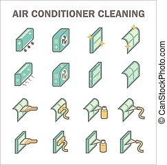 pulito, condizionamento, aria