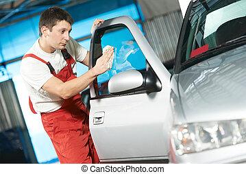 pulitore, auto, lavaggio, servizio, automobile