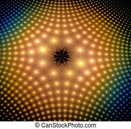 punti, astratto, illustrazione, ardendo, fondo, fractal