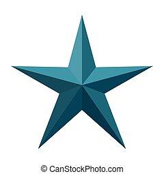 punti, cinque, stella, colorare, blu